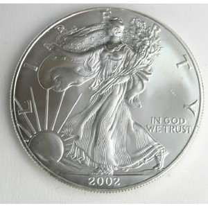 2002 US MINT AMERICAN SILVER EAGLE $1 DOLLAR UNC COIN
