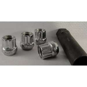 Chrome Open Ended, Spline, Tuner, Lug Nuts, Set of 20, Fitment for