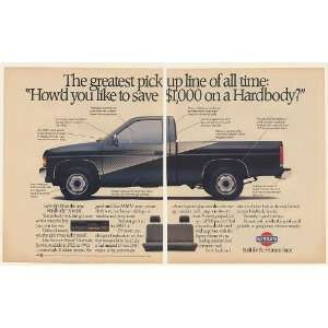1988 Nissan Hardbody Special Pickup Truck 2 Page Print Ad