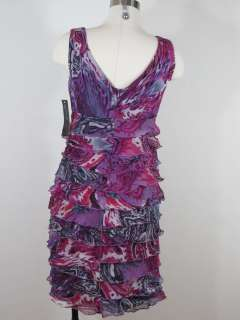Jones New York Printed Chiffon Dress Sz 8P 8 Petite NWT $150