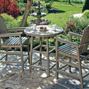 CR Plastic Products 3 Piece Pub Table Set