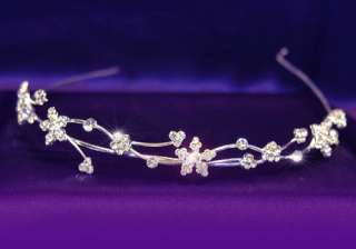 Wedding Flowers Crystal Rhinestone Headband Tiara T1097