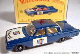 Matchbox RW No.55B Ford Fairlane Police Car dark blue