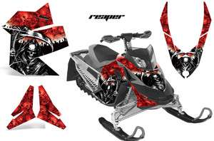 AMR RACING BRP SLED DECAL MX Z GRAPHIC KIT SUMMIT SKIDOO REV XP 08 12
