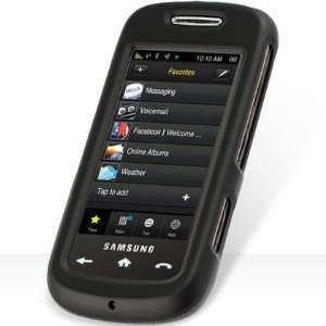 Black Rubberized Phone Cover for Sprint Samsung Instinct