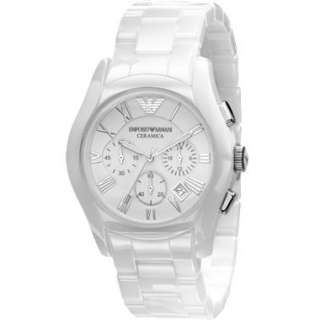 Emporio Armani White Ceramic Chronograph Mens Watch AR1403
