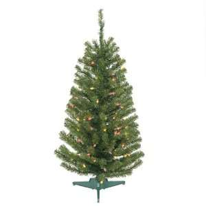 3.5 Pre Lit Balsam Fir Artificial Christmas Tree   Multi