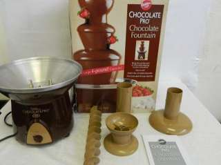 Chocolate TL 094Pro 3 Tier Chocolate Fountain 4 pound capacity brown