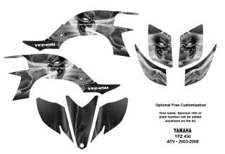 YAMAHA YFZ 450 Atv Graphic Decal Sticker Kit #6666Metal