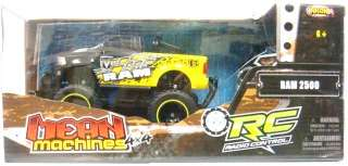 NKOK R/C MEAN MACHINES 4X4 RAM 2500 49MHZ 8 LENGTH TRUCK YELL/BLK NEW