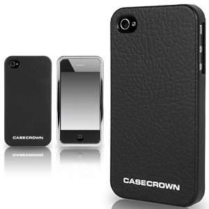 CaseCrown Leather Gun Metal Case for Apple iPhone 4 and 4S