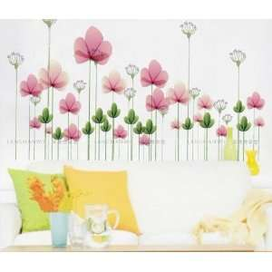 Reusable/removable Decoration Wall Sticker Decal  Pink