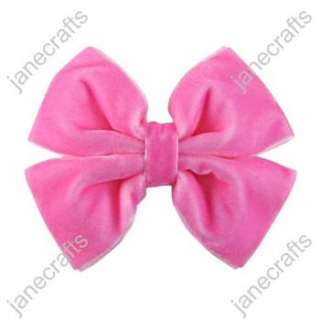 Sweet Velvet Pinwheel Girl/Baby/Toddler Hair Bows wholesale 12pcs
