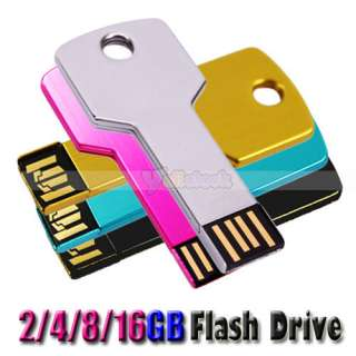 USB 2.0 Metal Key Flash Memory Drive Thumb Design 2G 4G 8G 16G 2GB 4GB