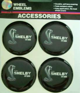 FORD SHELBY COBRA GT500 WHEELS RIM EMBLEMS