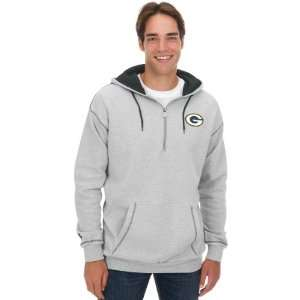 Pro Line Green Bay Packers Mens 1/4 Zip Hooded Sweatshirt   NFL