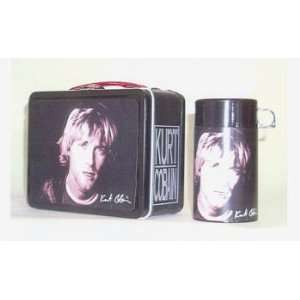 Kurt Cobain Nirvana Metal Lunch Box with Thermos