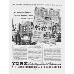 York Air Conditioning & Refrigeration Ad from January 1937
