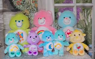 Care Bears & Care Bear Cousins Plush 8 Count  Cat Monkey~ Great Shape