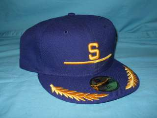 SEATTLE PILOTS BLUE GREEN BRIM WOOL NEW ERA HAT 8 1/8