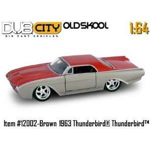 City Oldskool 164 Scale 1963 Brown/Red Thunderbird Die Cast Car Jada