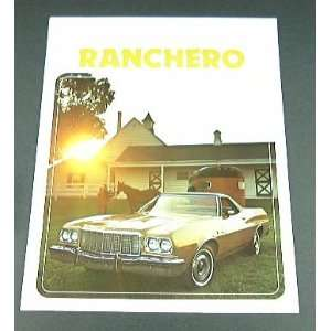 1975 75 Ford RANCHERO Truck BROCHURE GT 500 Squire