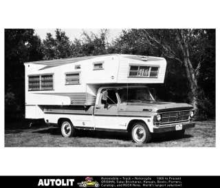 1969 Ford Dreamer Pickup Truck Camper RV Factory Photo