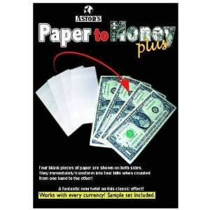 Astors Paper to Money Plus   Street Magic trick Toys