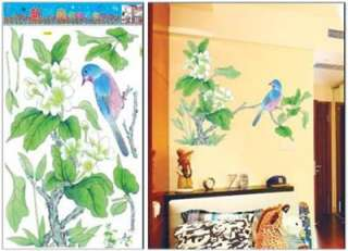 Tree & Bird Wall Art Home Decal Flower Mural Paper Sticker