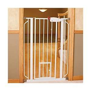 Extra Tall Walk Through Pet Gate With Small Door