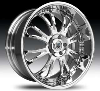 26 Asanti AFC404 Chrome Wheels Rims 3 Piece