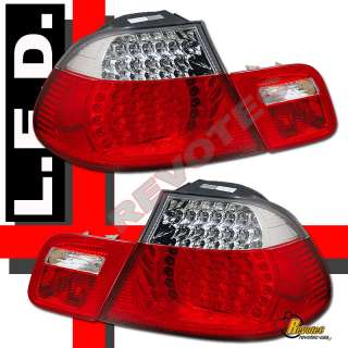 00 01 02 BMW E46 2DR COUPE LED TAIL LIGHTS 330ci m3