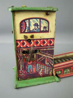 Rare Vintage Marx Wind Up Tin Toy Litho Train Tram Part
