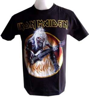 NEW VINTAGE ROCK BAND MUSIC IRON MAIDEN HEAVY METAL PUNK MENS T SHIRT
