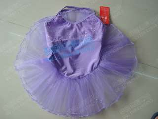 New Girls Ballet Dance Tutu Leotard Skirt Party Costume Skate Dress