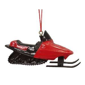 Black & Red Snowmobile Christmas Ornament #754399