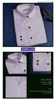 PURPLE CLUB MENS CASUAL BUSINESS SEMI SLIM DRESS SHIRTS sz S / M / L