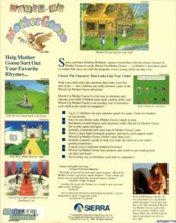 Mixed up Mother Goose PC CD kids adventure game Sierra
