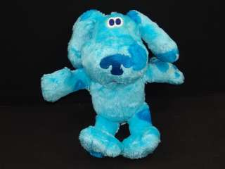 TALKING FISHER PRICE BLUES CLUES PUPPY DOG BLUE CARTOON PLUSH STUFFED