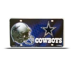 Dallas Cowboys Metal Nfl Sport License Plate Wall Sign Tag