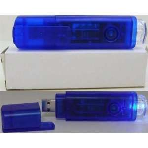 USB LED Rechargeable Torch/Light  Blue Case of 100