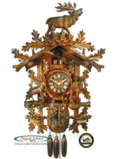 Black Forest Cuckoo Clock 8 Day The Hunter 35 inch NEW