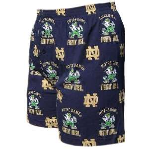Notre Dame Fighting Irish Mens Maverick Blue Boxer Shorts