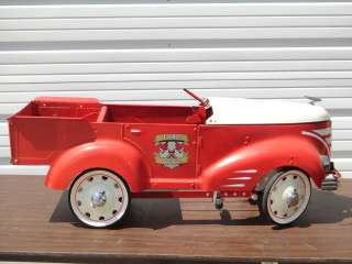GENDRON PEDAL CAR FIRE DEPT FIRE ENGINE TRUCK TOY RIDE ON VEHICLE