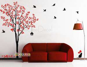 Decor Decal Sticker Removable tree branche birds large 2 colors DC0305