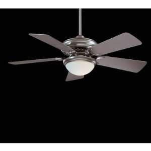 44 Supra Ceiling Fan in Brushed Steel   Energy Star Finish Brushed