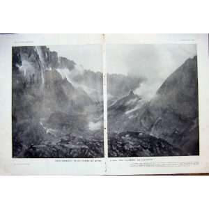 Java Merapi Crater Volcano Eruption French Print 1933
