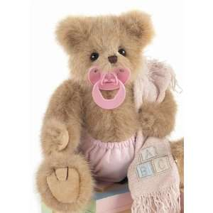 Personalized Teddy Bear Pink Baby Blanket   Embroidered