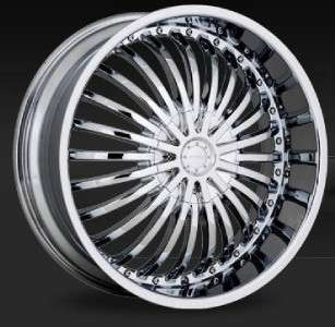 22 inch Strada Spina Chrome wheels Rims 5x120 +18