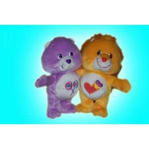 Care Bear Cuddle Pair Share Bear and Braveheart Stuffed Characters